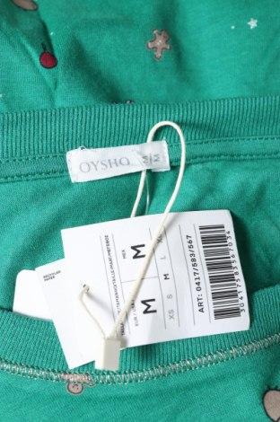 Пижама Oysho, Размер M, Цвят Зелен, 51% модал, 49% памук, Цена 13,65лв.