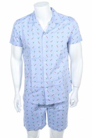 Пижама Springfield, Размер M, Цвят Син, Памук, Цена 35,77лв.