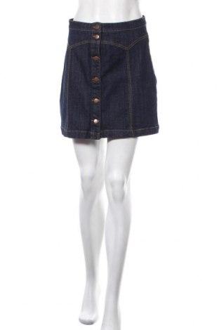 Пола H&M, Размер M, Цвят Син, 99% памук, 1% еластан, Цена 6,30лв.