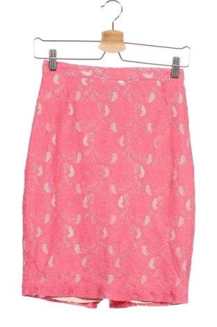 Φούστα H&M Conscious Collection, Μέγεθος XS, Χρώμα Ρόζ , 70% βαμβάκι, 30% πολυαμίδη, Τιμή 9,71€