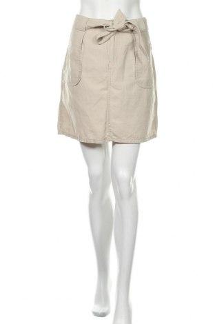 Пола H&M L.O.G.G., Размер XL, Цвят Бежов, 48% памук, 30% лен, 22% лиосел, Цена 6,24лв.