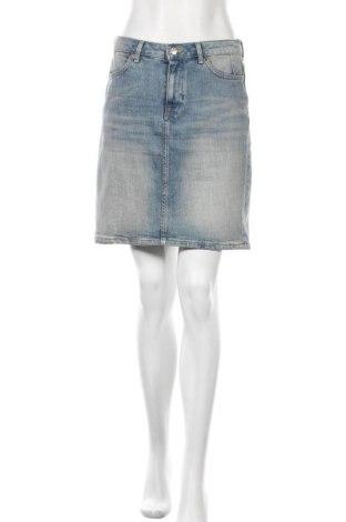 Φούστα H&M L.O.G.G., Μέγεθος M, Χρώμα Μπλέ, 83% βαμβάκι, 16% πολυεστέρας, 1% ελαστάνη, Τιμή 10,67€