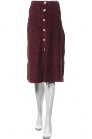 Пола Pull&Bear, Размер XS, Цвят Червен, 67% памук, 31% полиестер, 2% еластан, Цена 14,21лв.