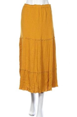 Пола Zara, Размер M, Цвят Жълт, 100% вискоза, Цена 25,20лв.
