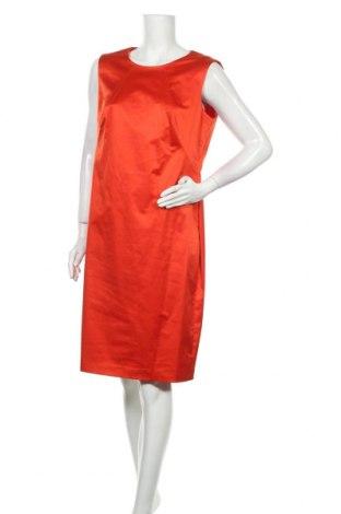 Рокля Boss, Размер XL, Цвят Оранжев, 57% памук, 40% полиестер, 3% еластан, Цена 92,40лв.