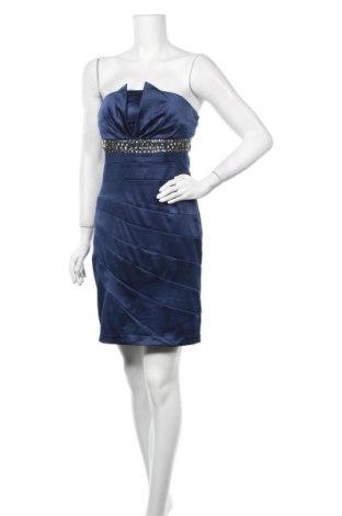 Рокля Giorgia, Размер L, Цвят Син, 65% памук, 35% полиестер, Цена 48,30лв.