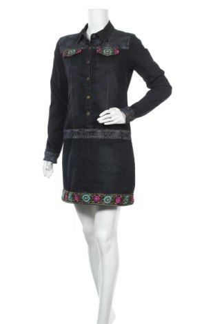 Рокля Koroshi, Размер S, Цвят Сив, 98% памук, 2% еластан, Цена 35,99лв.