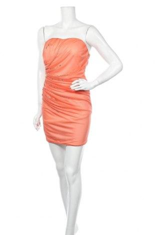 Рокля Lexxury, Размер S, Цвят Оранжев, 95% полиестер, 5% еластан, Цена 26,25лв.
