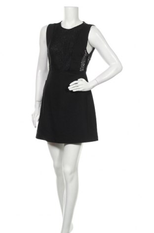 Рокля Zara Trafaluc, Размер L, Цвят Черен, 52% памук, 45% полиестер, 3% еластан, Цена 51,75лв.
