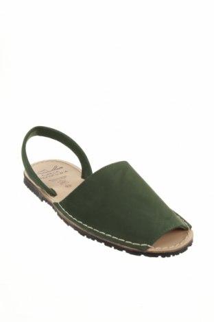 Сандали Avarca Menorquina, Размер 43, Цвят Зелен, Естествена кожа, Цена 44,50лв.