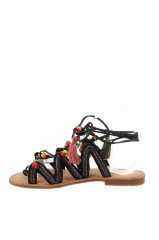 Сандали Gioseppo, Размер 37, Цвят Черен, Естествена кожа, текстил, Цена 42,72лв.