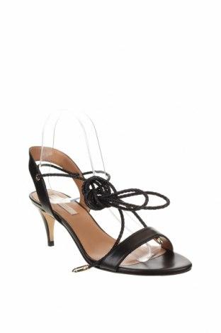Сандали Pura Lopez, Размер 37, Цвят Черен, Естествена кожа, Цена 77,70лв.