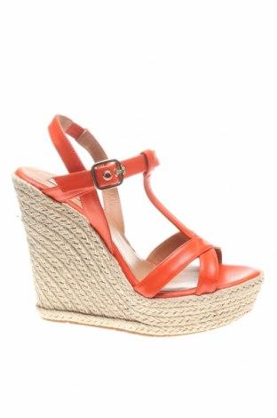 Сандали Pura Lopez, Размер 37, Цвят Оранжев, Естествена кожа, Цена 69,93лв.