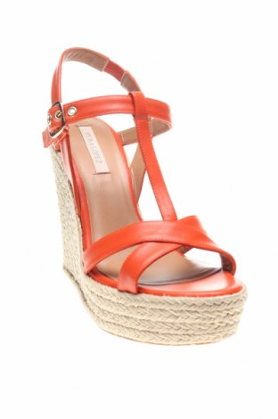 Сандали Pura Lopez, Размер 39, Цвят Оранжев, Естествена кожа, Цена 56,67лв.