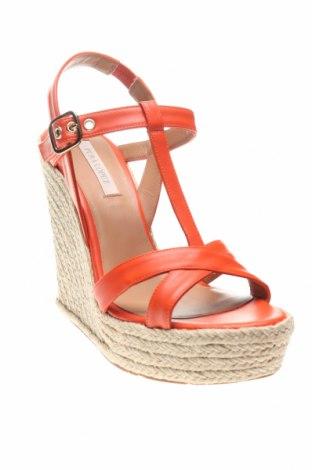 Сандали Pura Lopez, Размер 38, Цвят Оранжев, Естествена кожа, Цена 56,67лв.