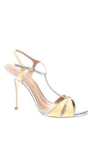 Сандали Pura Lopez, Размер 38, Цвят Жълт, Естествена кожа, Цена 114,72лв.