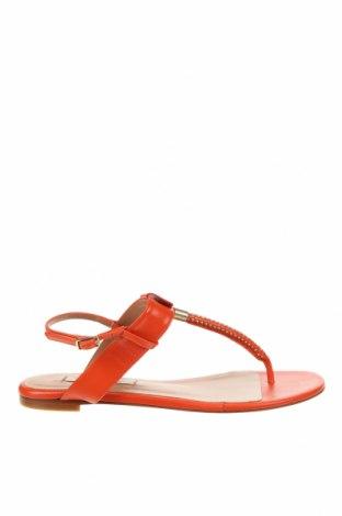 Сандали Pura Lopez, Размер 37, Цвят Оранжев, Естествена кожа, Цена 114,72лв.