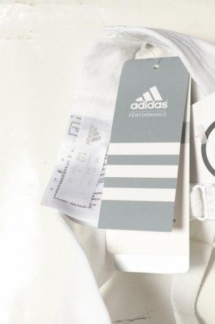 Сутиен Adidas, Размер S, Цвят Бял, 93% полиамид, 7% еластан, Цена 36,75лв.