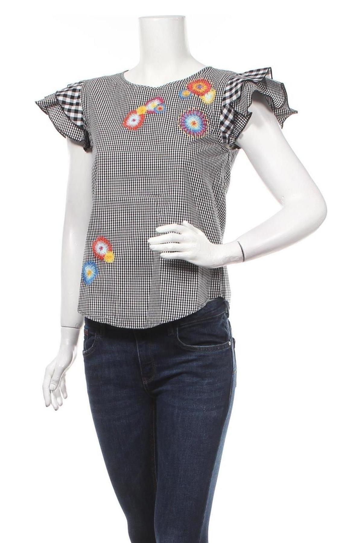 Γυναικεία μπλούζα Desigual, Μέγεθος S, Χρώμα Μαύρο, Βαμβάκι, Τιμή 38,27€