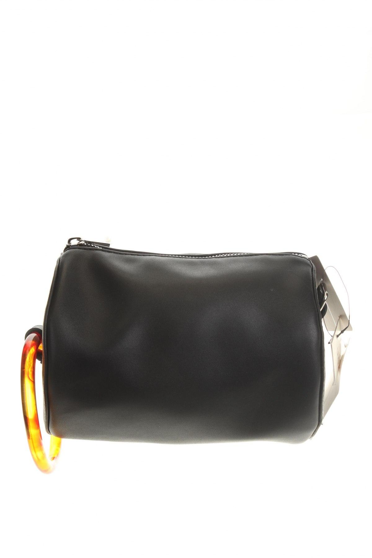 Дамска чанта Cropp, Цвят Черен, Еко кожа, Цена 36,75лв.