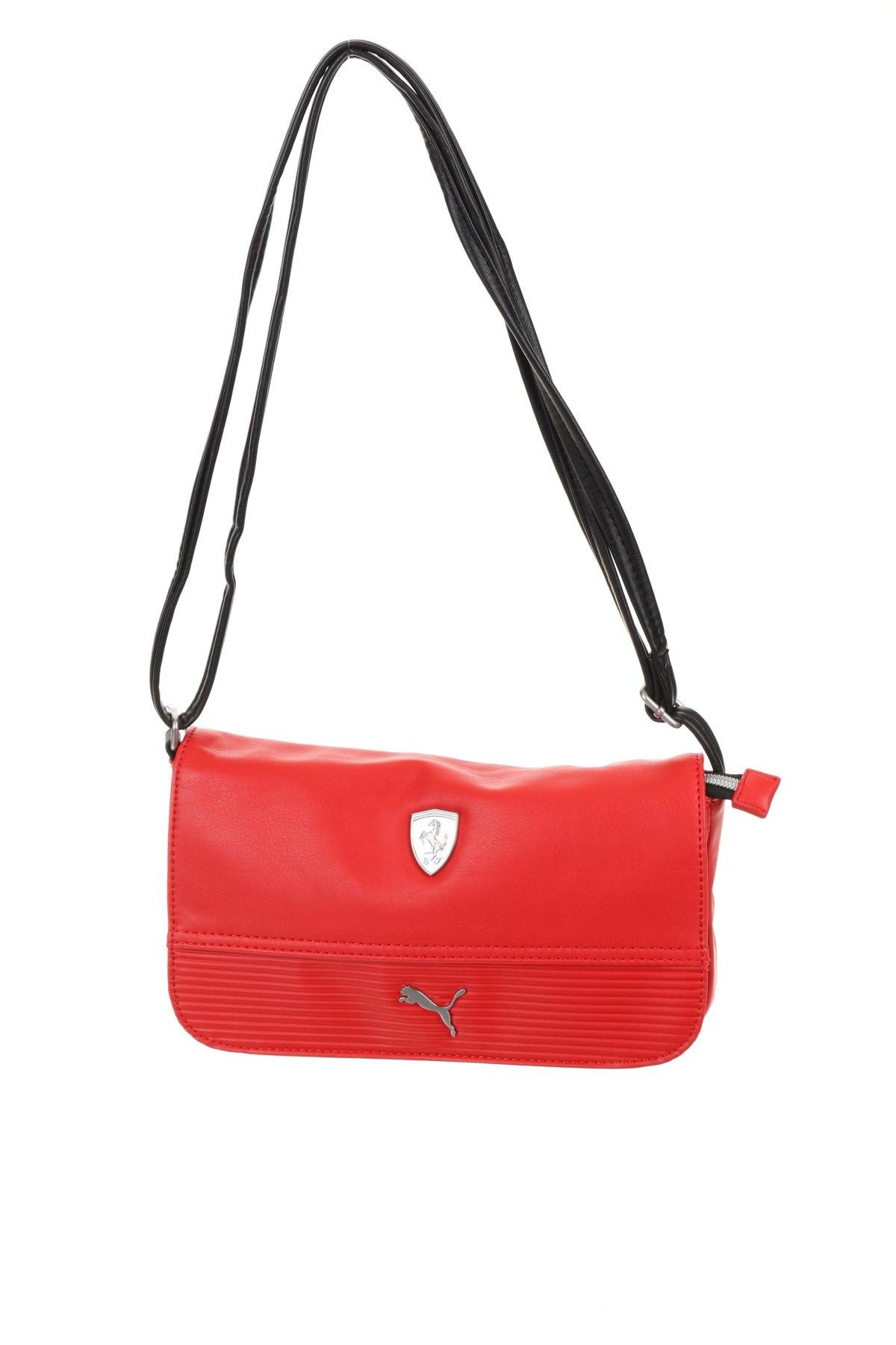 Дамска чанта Ferrari X Puma, Цвят Червен, Еко кожа, Цена 66,75лв.