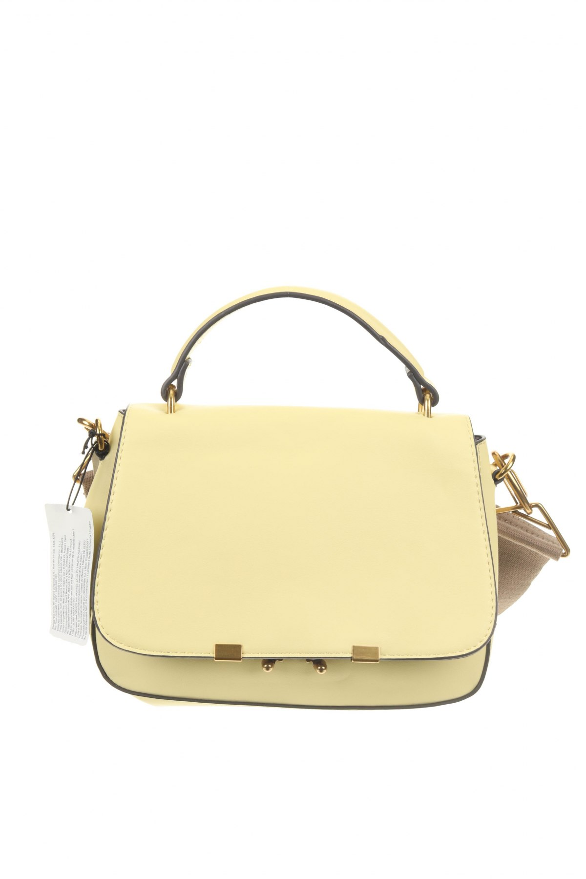 Дамска чанта Parfois, Цвят Жълт, Еко кожа, Цена 44,25лв.