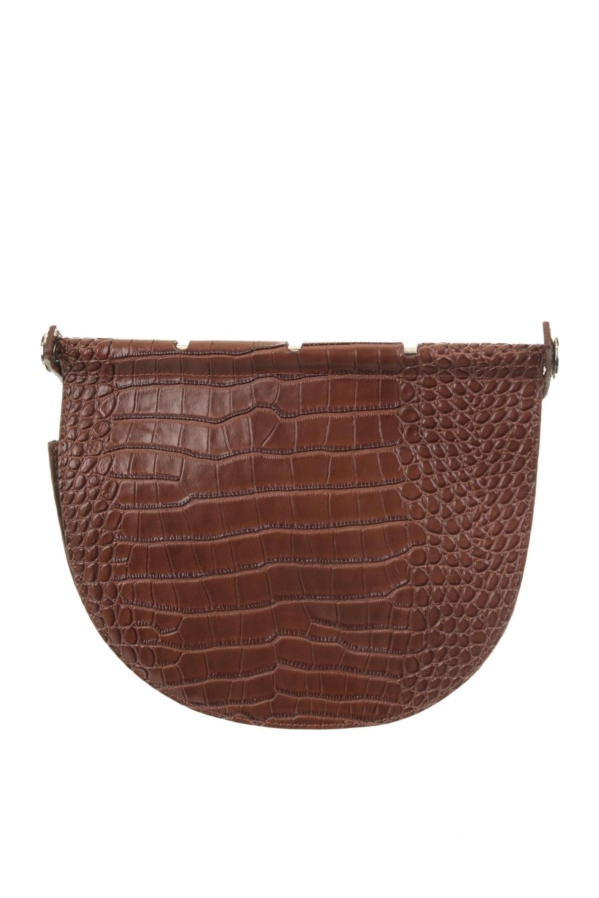 Дамска чанта Reserved, Цвят Кафяв, Еко кожа, Цена 22,42лв.