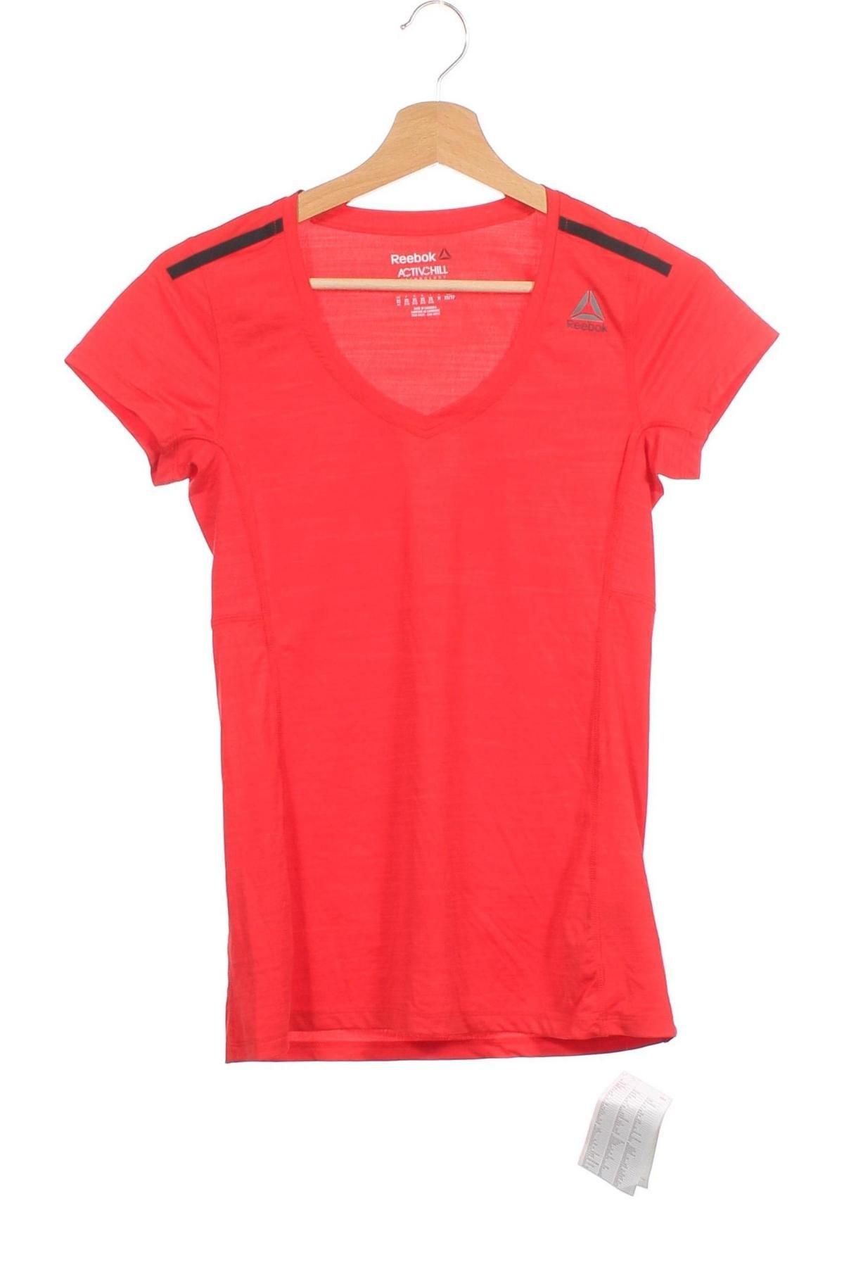 Дамска тениска Reebok, Размер XS, Цвят Червен, 84% полиамид, 16% еластан, Цена 16,17лв.