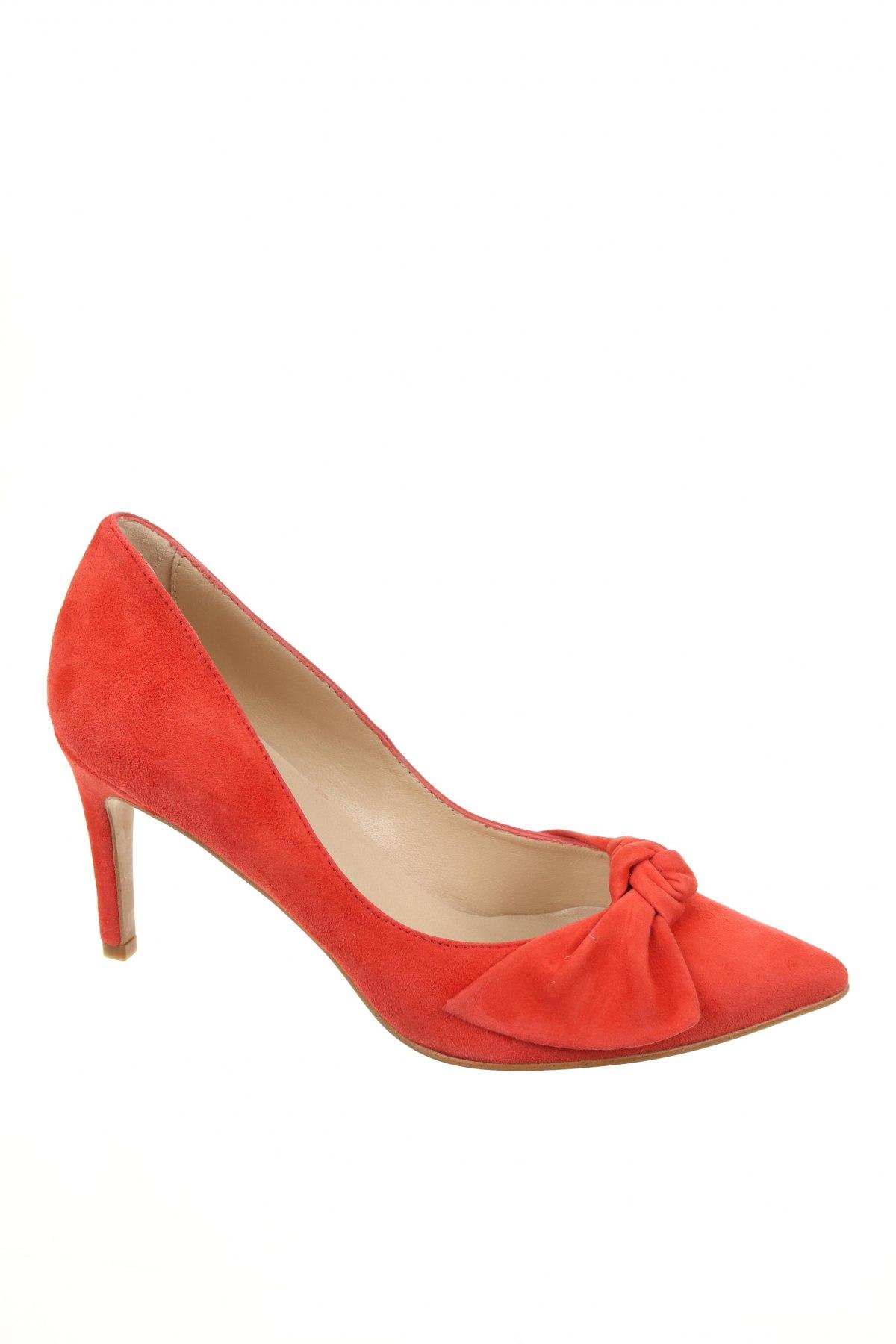 Дамски обувки Elodie, Размер 38, Цвят Оранжев, Естествен велур, Цена 45,22лв.