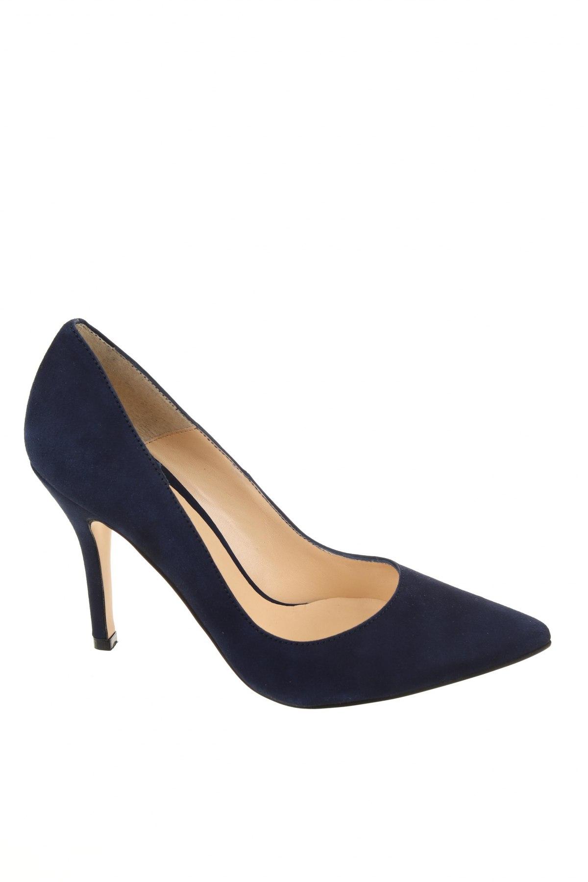 Дамски обувки Elodie, Размер 38, Цвят Син, Естествен велур, Цена 104,25лв.