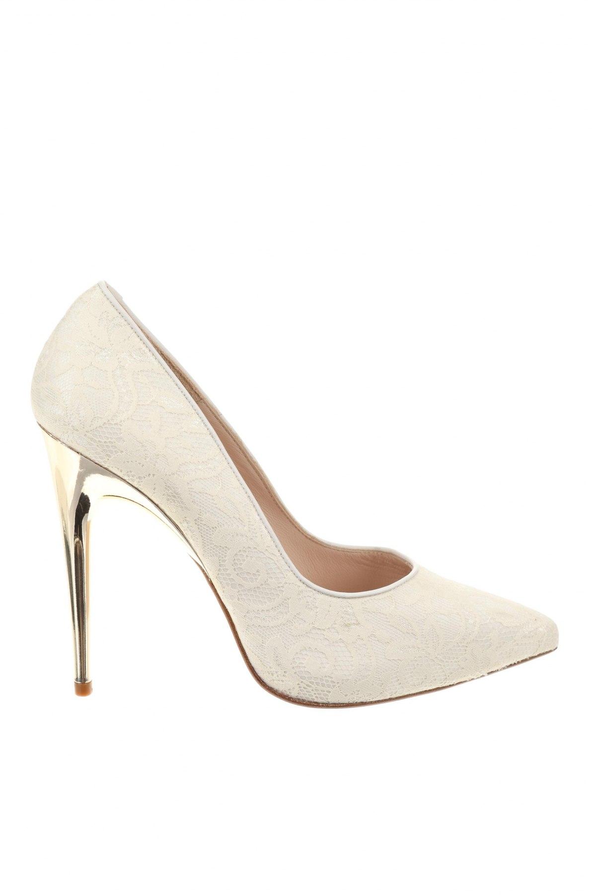 Дамски обувки Hannibal Laguna, Размер 39, Цвят Екрю, Текстил, Цена 126,75лв.