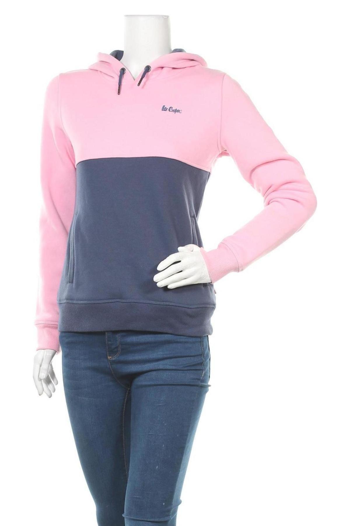 Дамски суичър Lee Cooper, Размер S, Цвят Розов, Цена 55,50лв.