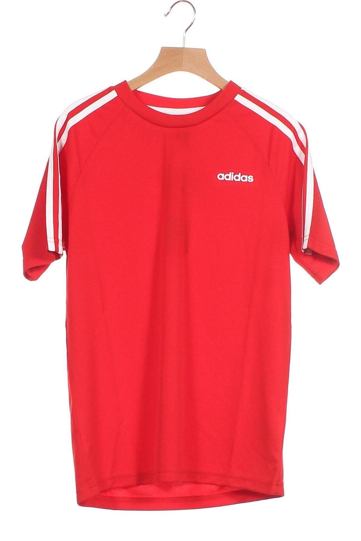 Παιδικό μπλουζάκι Adidas, Μέγεθος 10-11y/ 146-152 εκ., Χρώμα Κόκκινο, Πολυεστέρας, Τιμή 18,95€