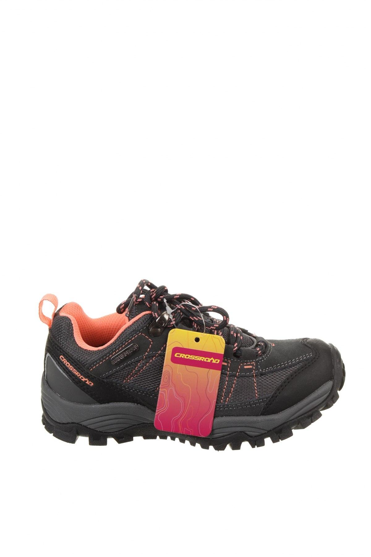 Детски обувки, Размер 32, Цвят Сив, Еко кожа, текстил, естествен велур, Цена 39,33лв.