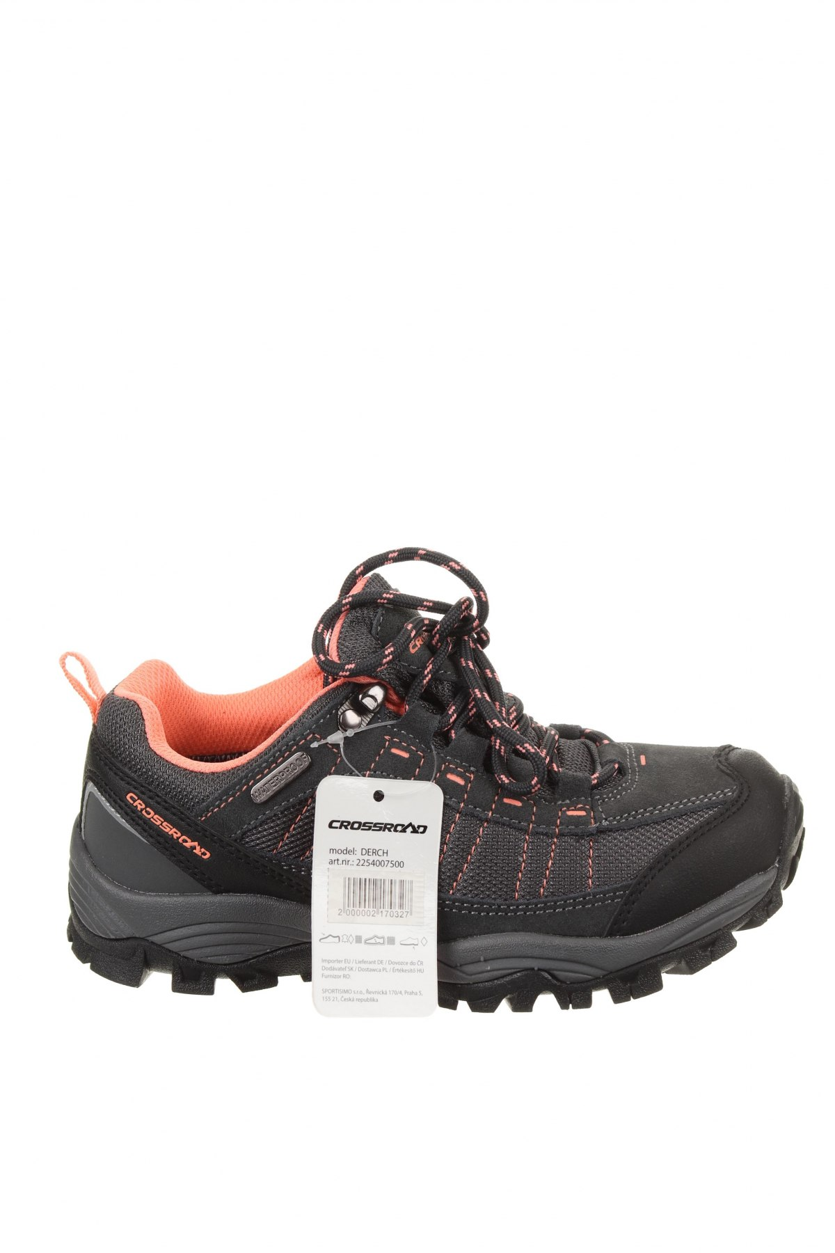 Детски обувки, Размер 34, Цвят Сив, Текстил, еко кожа, естествен велур, Цена 33,81лв.