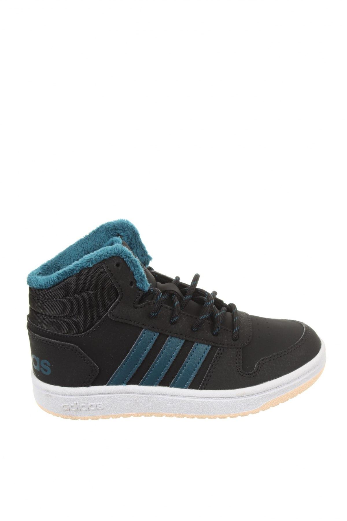 Детски обувки Adidas, Размер 31, Цвят Черен, Еко кожа, текстил, Цена 38,76лв.