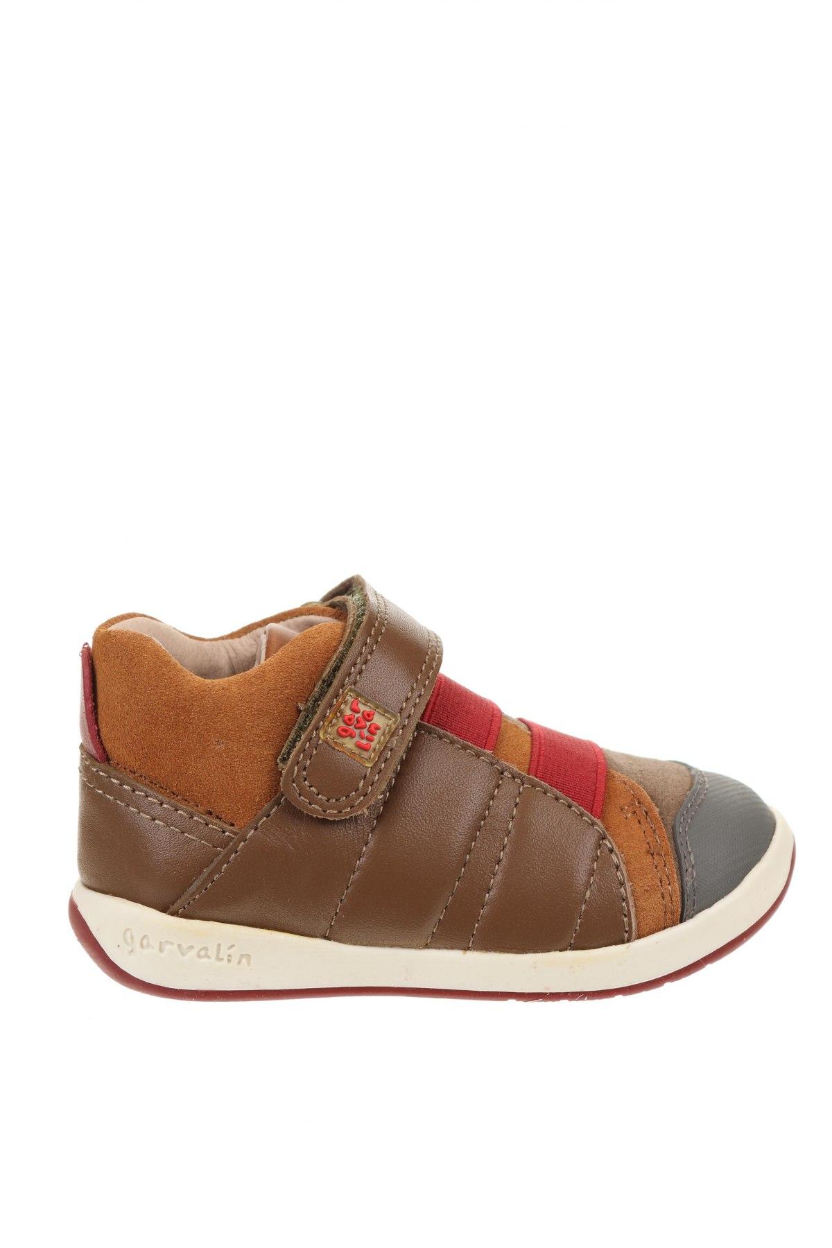 Детски обувки Garvalin, Размер 21, Цвят Многоцветен, Естествена кожа, естествен велур, Цена 24,00лв.