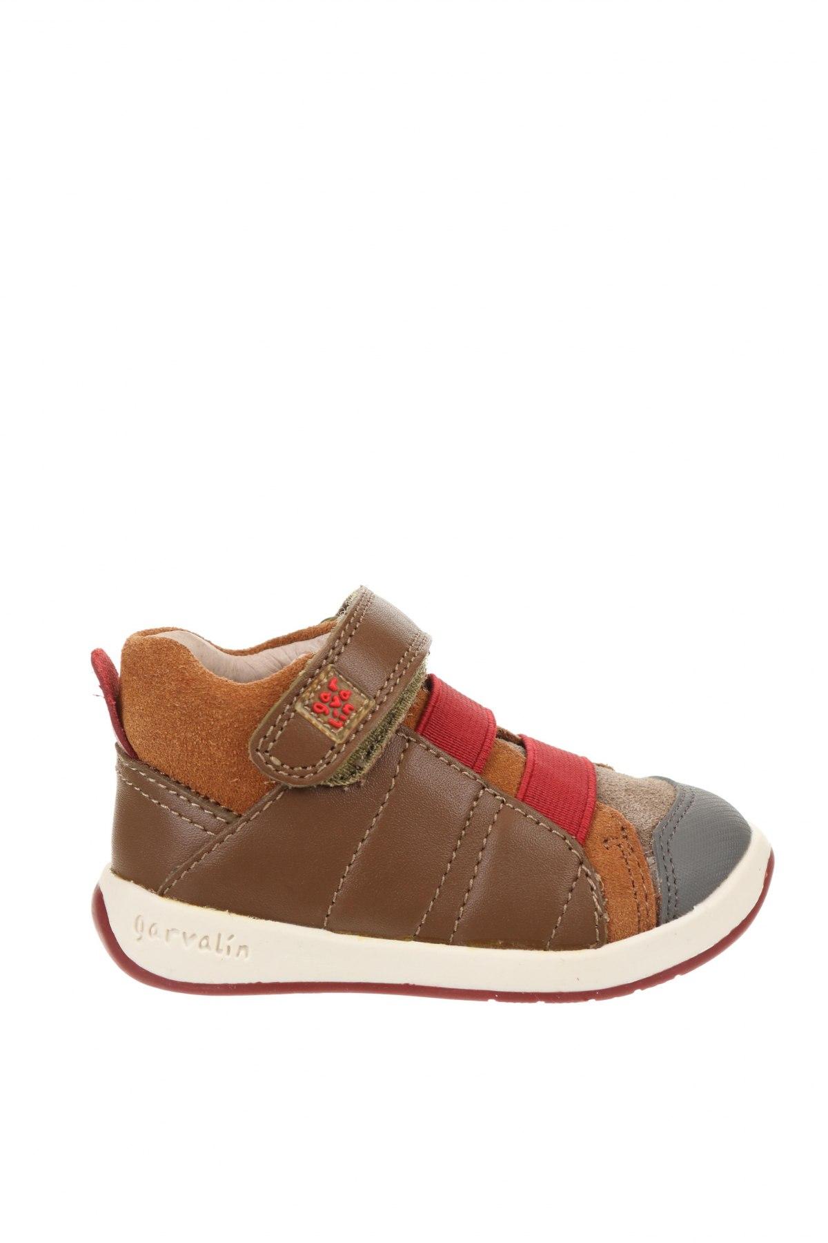 Детски обувки Garvalin, Размер 20, Цвят Многоцветен, Естествена кожа, естествен велур, Цена 24,00лв.