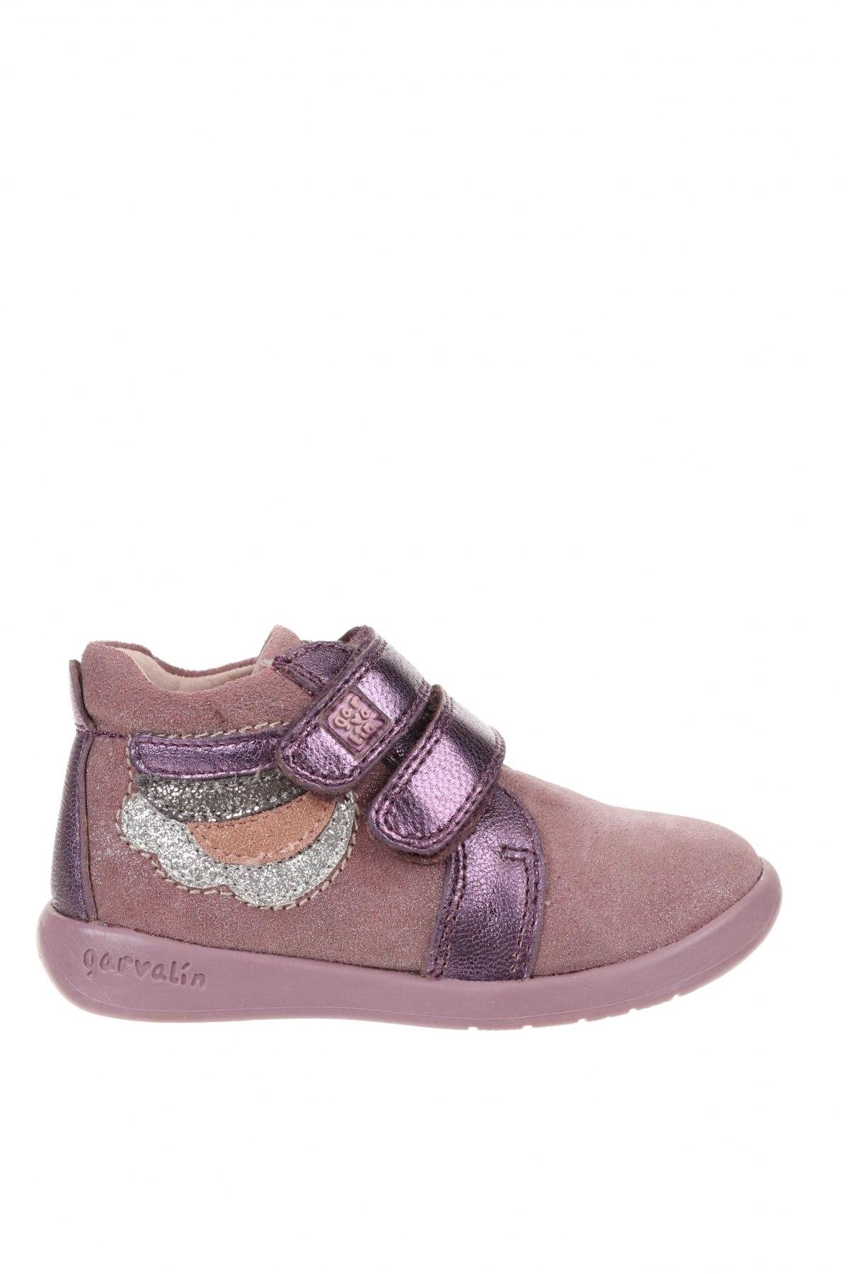 Детски обувки Garvalin, Размер 23, Цвят Лилав, Естествена кожа, естествен велур, Цена 33,60лв.