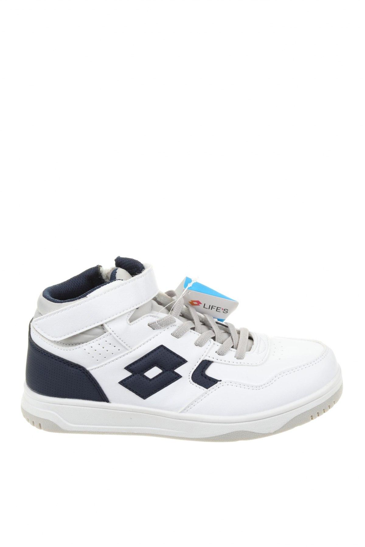 Детски обувки Lotto, Размер 33, Цвят Бял, Еко кожа, Цена 31,15лв.