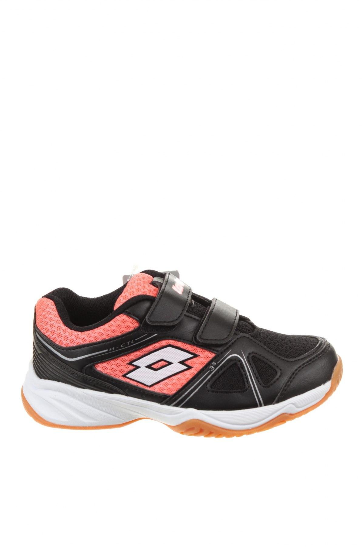 Детски обувки Lotto, Размер 31, Цвят Черен, Еко кожа, текстил, Цена 29,37лв.