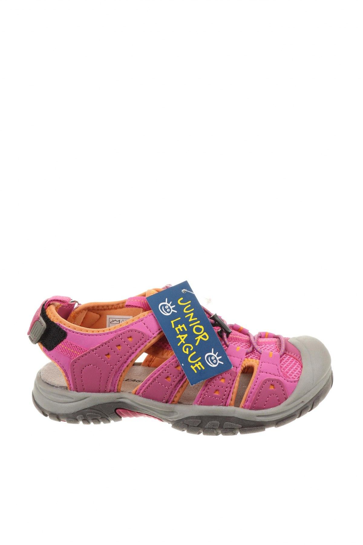 Детски сандали, Размер 32, Цвят Розов, Еко кожа, текстил, Цена 35,77лв.