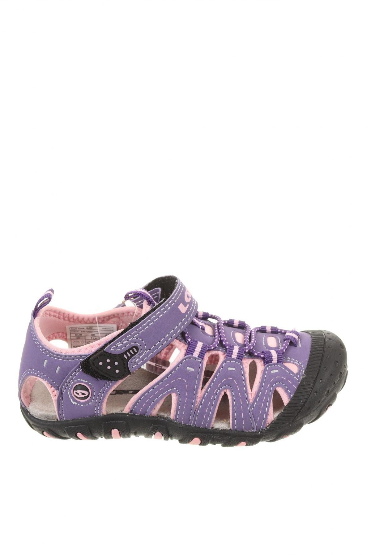 Детски сандали Loap, Размер 30, Цвят Лилав, Еко кожа, Цена 24,50лв.