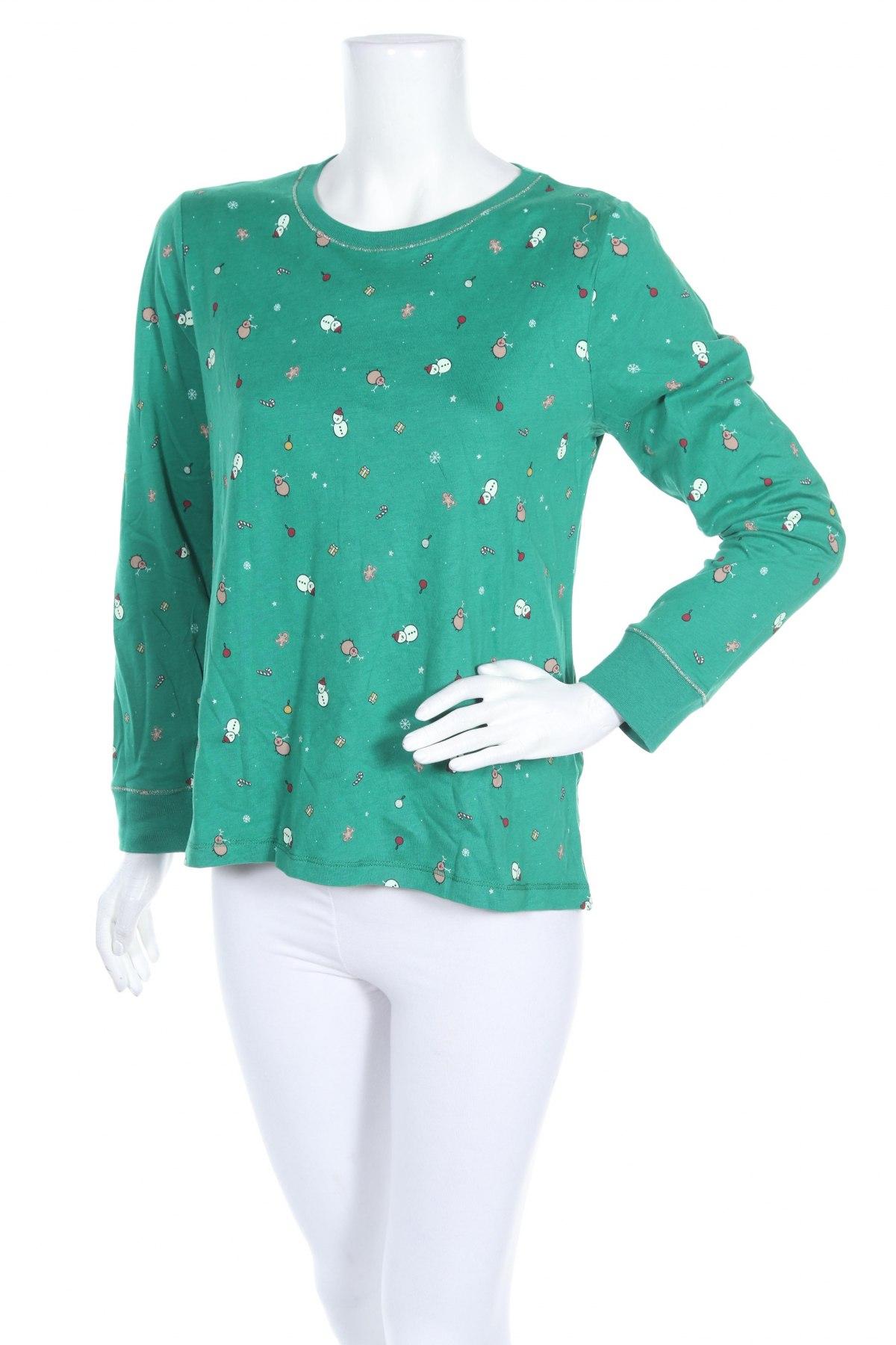 Пижама Oysho, Размер L, Цвят Зелен, 51% модал, 49% памук, Цена 13,65лв.