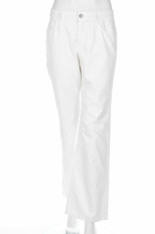 Дамски панталон Bianca, Размер M, Цвят Бял, 65% памук, 32% полиестер, 3% еластан, Цена 8,64лв.