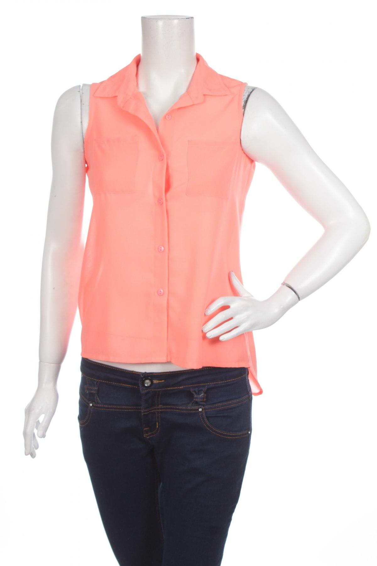Γυναικείο πουκάμισο, Μέγεθος L, Χρώμα Πορτοκαλί, Τιμή 11,13€