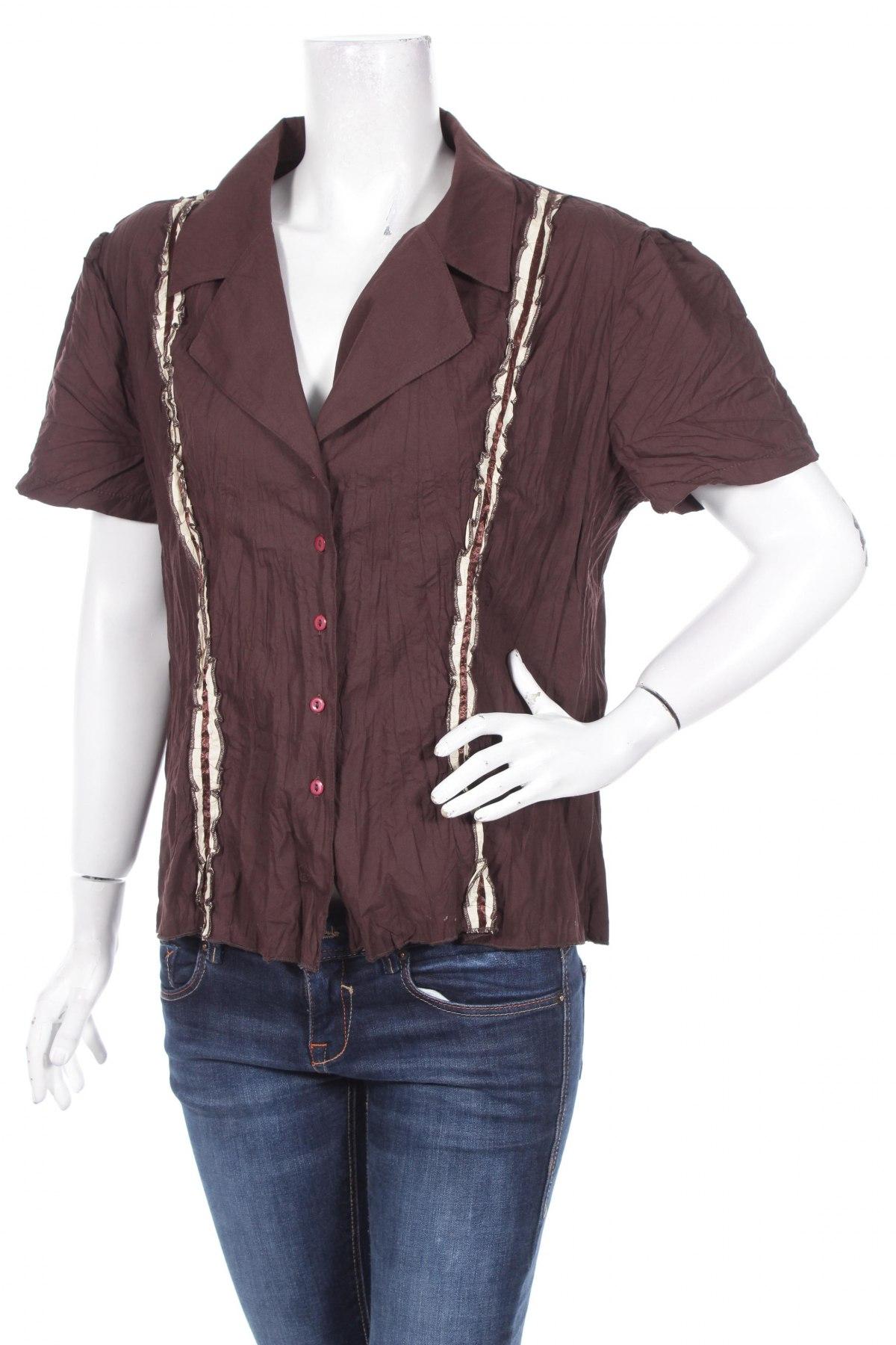 Γυναικείο πουκάμισο Falabella, Μέγεθος L, Χρώμα Καφέ, Τιμή 8,66€