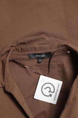 Γυναικείο πουκάμισο Bonita, Μέγεθος S, Χρώμα Καφέ, 70% βαμβάκι, 26% πολυαμίδη, 4% ελαστάνη, Τιμή 14,23€