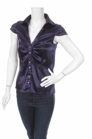 Дамска риза Clockhouse, Размер M, Цвят Лилав, 97% полиестер, 3% еластан, Цена 7,25лв.