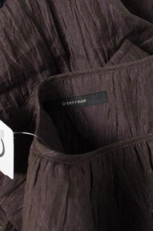 Γυναικείο πουκάμισο Green House, Μέγεθος L, Χρώμα Καφέ, 67% τενσελ, 30% πολυεστέρας, 3% μέταλλο, Τιμή 9,90€